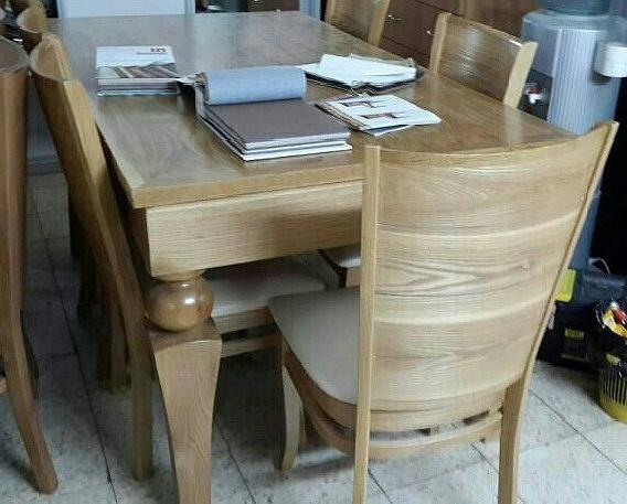 שולחן פינת אוכל + 6 כיסאות דגם דיאגו - 1