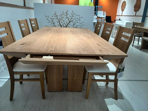 שולחן לפינת אוכל + 6 כסאות דגם הולנד מעץ אלון מבוקע - 1