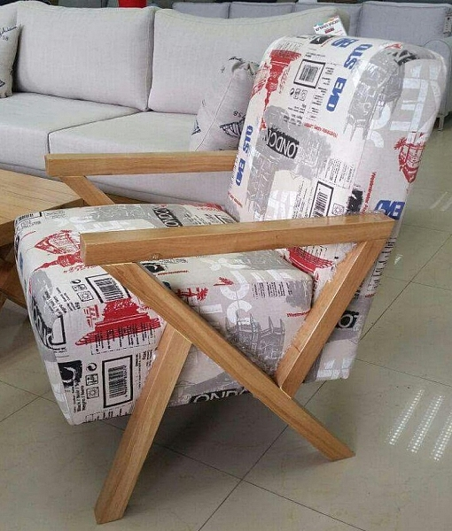 כורסא ידיות מעץ דגם סרינה - 1