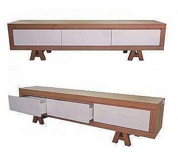 סט מזנון ושולחן אפוקסי בשילוב אלון מבוקע דגם - N133 - 1