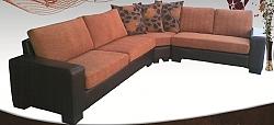 מערכת ישיבה סלון  פינתי מבד דגם גלוריה