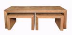 2 שולחנות סלון בתוך שולחן מאלון מבוקע  דגם N161