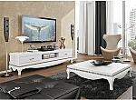 מזנון + שולחן אפוקסי בשילוב אבני קריסטל דגם אודי