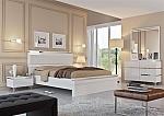 חדר שינה יוקרתי ומעוצב אפוקסי בשילוב ניקל דגם שניר