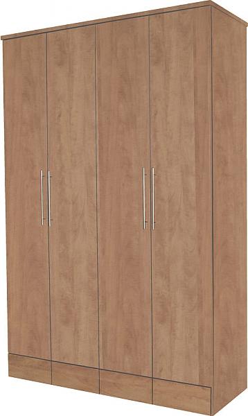ארון 4 דלתות שוקו - 1