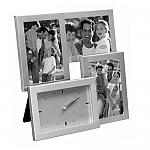 מסגרת אלומיניום ל- 3 תמונות עם שעון | מתנות מקוריות לחג לעובדים ולקוחות