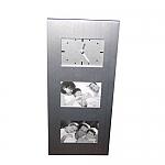 מסגרת אלומיניום לתמונות עם שעון | מתנות מקוריות לחג לעובדים ולקוחות