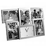 מסגרת אלומיניום ל- 5 תמונות עם שעון | מתנות מקוריות לחג לעובדים ולקוחות