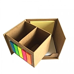 מעמד ניירות ממו בצורת קוביה נפתחת הצידה | מתנות לשולחן העבודה לעובדים ולקוחות