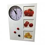 לוח ממו מגנטי עם שעון ומסגרות לתמונות | מתנות לשולחן העבודה לעובדים ולקוחות