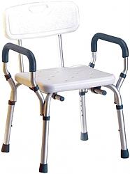 כסא רחצה עם ידיות טלסקופיות
