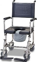 כסא רחצה ושירותים גלגלי נירוסטה