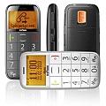 טלפון סלולרי למבוגרים, איזי פון, בתמונה מלפנים מהצד ומאחור בשחור ובלבן