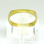 """טבעת נישואין """"4 פינות"""" זהב צהוב 14K"""