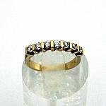 טבעת אירוסין זהב צהוב 14K משובצת עם 7 יהלומים