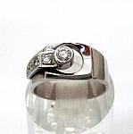 טבעת זהב לבן 14K משובצת עם 5 יהלומים