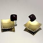 עגילים מצופים זהב צהוב 14K משובצים עם זרקונים