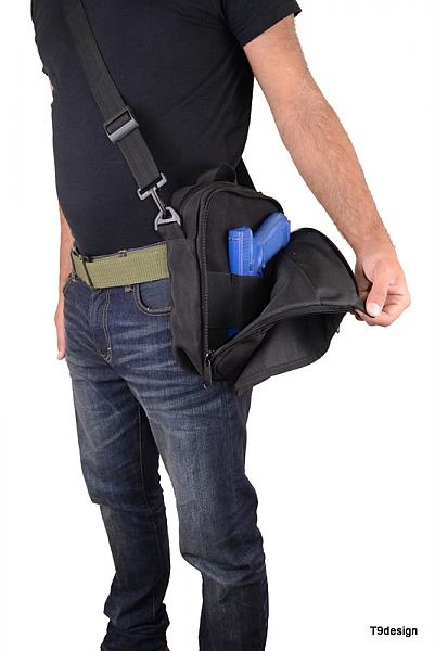 תיק צד גדול להסלקת אקדח - 3