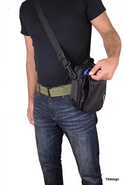 תיק צד בינוני, להסלקת אקדח - 2