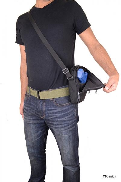 תיק צד להסלקת אקדח קטן - 3