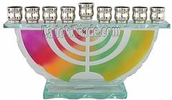 חנוכיה זכוכית - מנורה
