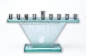 חנוכיה זכוכית משולש - 1