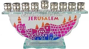 חנוכיה זכוכית-ירושלים - 1