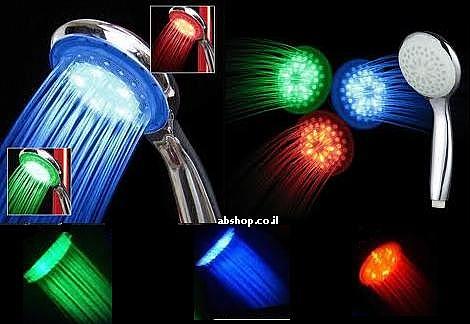 טוש אמבט עם תאורת לדים מתחלפת לפי טמפרטורה - 1