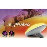 Jellywake2 שעון מעורר עם דימוי זריחה ושקיעה בעל עיצוב יחודי