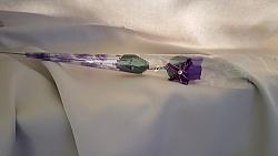 x 5 פרח ורד פלסטיק