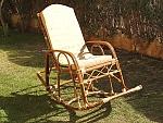 כסא נדנדה מבמבוק / קש