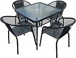 סט 4 כסאות ושולחן