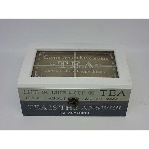 קופסה כפרית לתה - 1