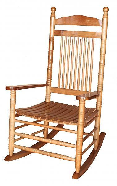 כסא נדנדה מעץ מלא - 2