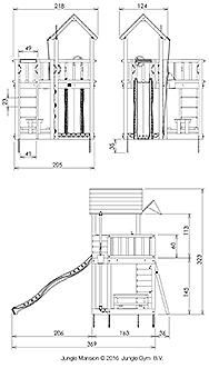 מתקן שעשועים לגינה XL - 3