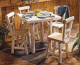 מערכת ישיבה מעץ מלא - 1
