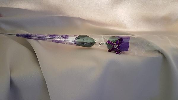 x 5 פרח ורד פלסטיק - 1
