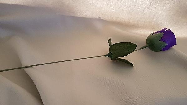x 5 פרח ורד פלסטיק - 2