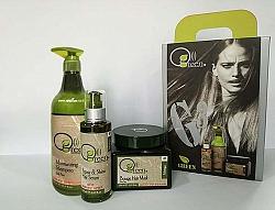 ערכת טיפוח לשיער יבש ופגום - GREEN