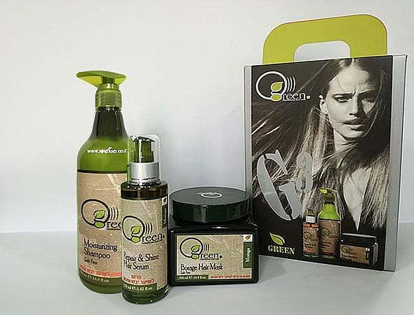 ערכת טיפוח לשיער יבש ופגום - GREEN - 1