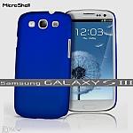 כיסוי MicroShell לסמסונג גלקסי 3 בצבע כחול מארין