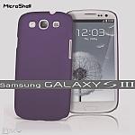 כיסוי MicroShell לסמסונג גלקסי 3 בצבע סגול עתיק