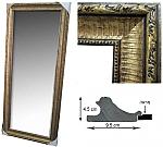 מראה גדולה עם מסגרת מסוגננת 2455-01 זהב ברונזה