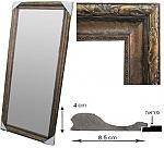 מראה גדולה עם מסגרת מסוגננת 2473-17 זהב ברונזה