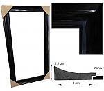 מראה גדולה עם מסגרת מסוגננת 509 שחור מבריק