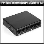 מפצל רשת 5-Ports 10/100Mbps Fast Ethernet Network Switch Hub