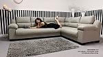 מערכת ישיבה בריפוד דמוי עור דגם אורלנדו פינתי