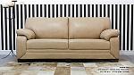 ספה דו מושבית בריפוד דמוי עור דגם מרסדס