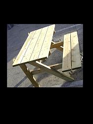 שולחן פיקניק צד ישיבה אחד