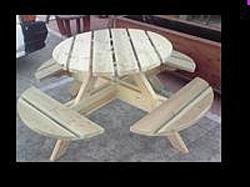 שולחן פיקניק עגול